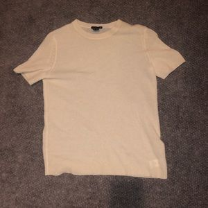 Theory short sleeve cashmere sweater